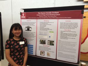 IoT House REU Students End Summer 2018 Research with Poster Presentations