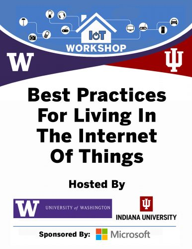 IU/UW IoT Workshop 2017 Report Downloadable